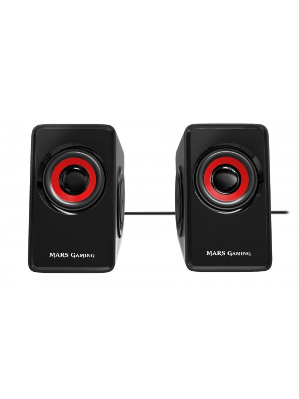 Mars Gaming MS1 altavoz 10 W Negro, Rojo Alámbrico