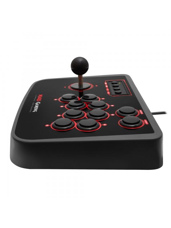 Mars Gaming MRA mando y volante Panel de mandos tipo máquina recreativa PC, Playstation 2, Playstation 3 Analógico Digital USB
