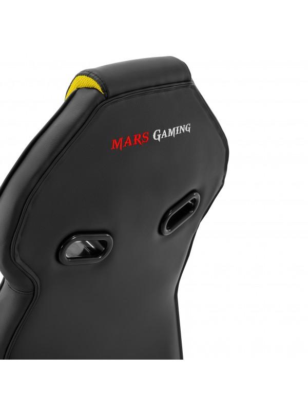 Mars Gaming MGC118 Silla para videojuegos universal Asiento acolchado Negro, Amarillo