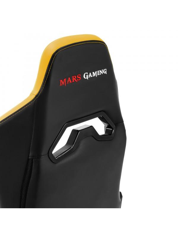 Mars Gaming MGC3 Silla para videojuegos universal Asiento acolchado Negro, Amarillo