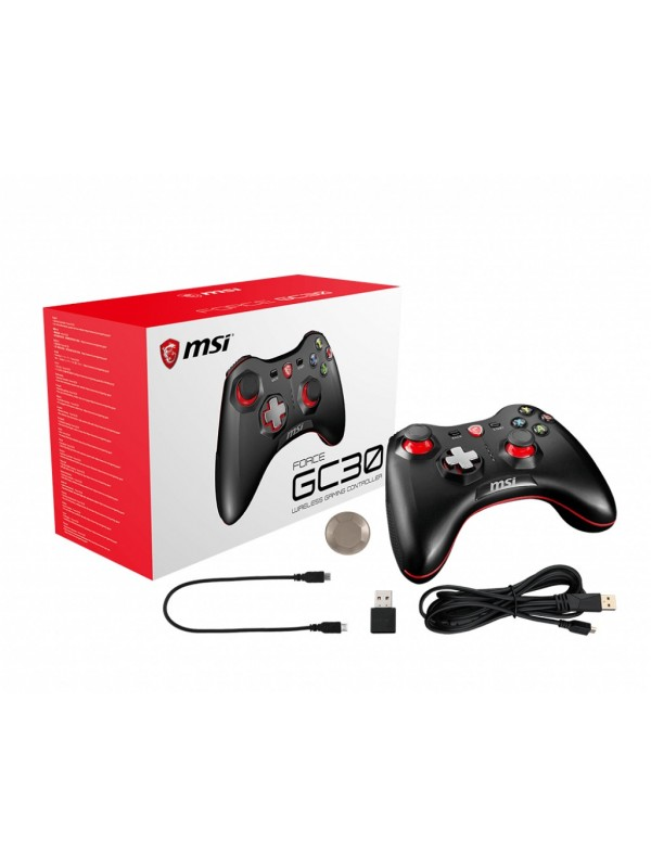MSI Force GC30 Gamepad Android, PC Analógico Digital USB 2.0 Negro