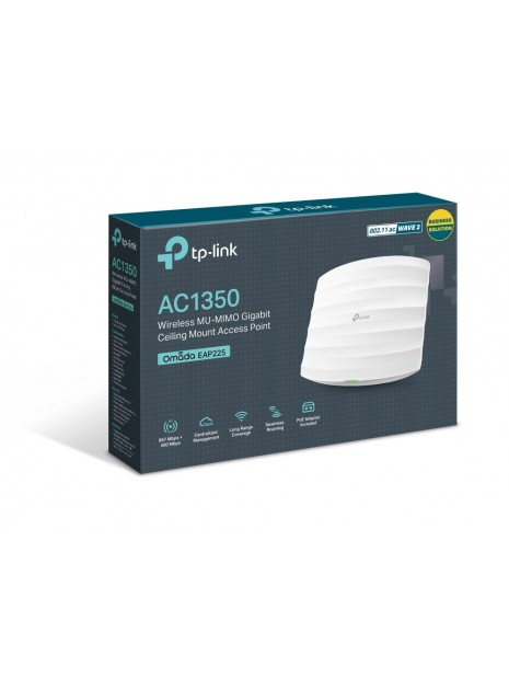 TP-LINK EAP225 router inalámbrico Doble banda (2,4 GHz   5 GHz) Gigabit Ethernet Blanco