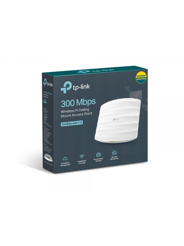 TP-LINK EAP115 punto de acceso inalámbrico 300 Mbit s Energía sobre Ethernet (PoE) Blanco