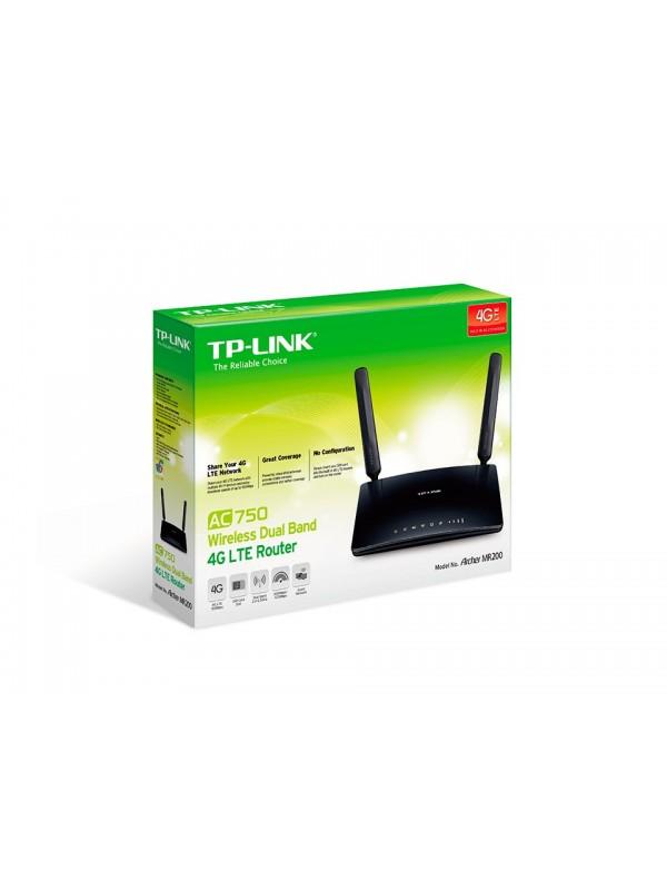 TP-LINK Archer MR200 router inalámbrico Doble banda (2,4 GHz   5 GHz) Ethernet rápido 3G 4G Negro