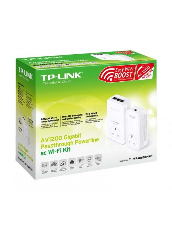 TP-LINK TL-WPA8630P KIT adaptador de red powerline 1200 Mbit s Ethernet Wifi Blanco 2 pieza(s)