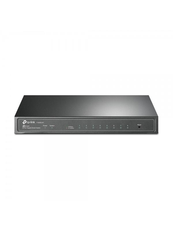 TP-LINK T1500G-8T(TL-SG2008) Gestionado L2 L3 L4 Gigabit Ethernet (10 100 1000) Negro Energía sobre Ethernet (PoE)