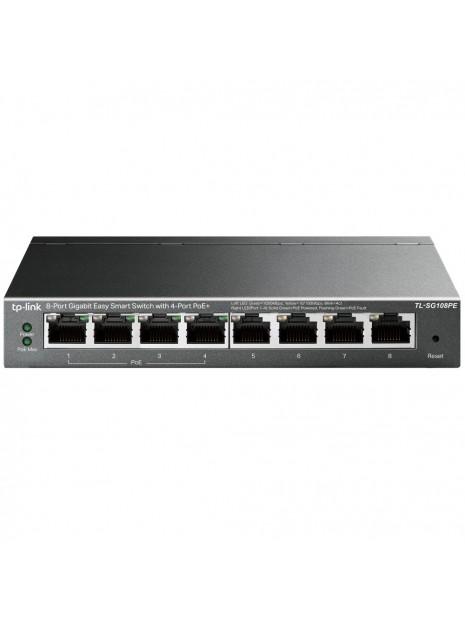 TP-LINK TL-SG108PE switch No administrado Gigabit Ethernet (10 100 1000) Negro Energía sobre Ethernet (PoE)