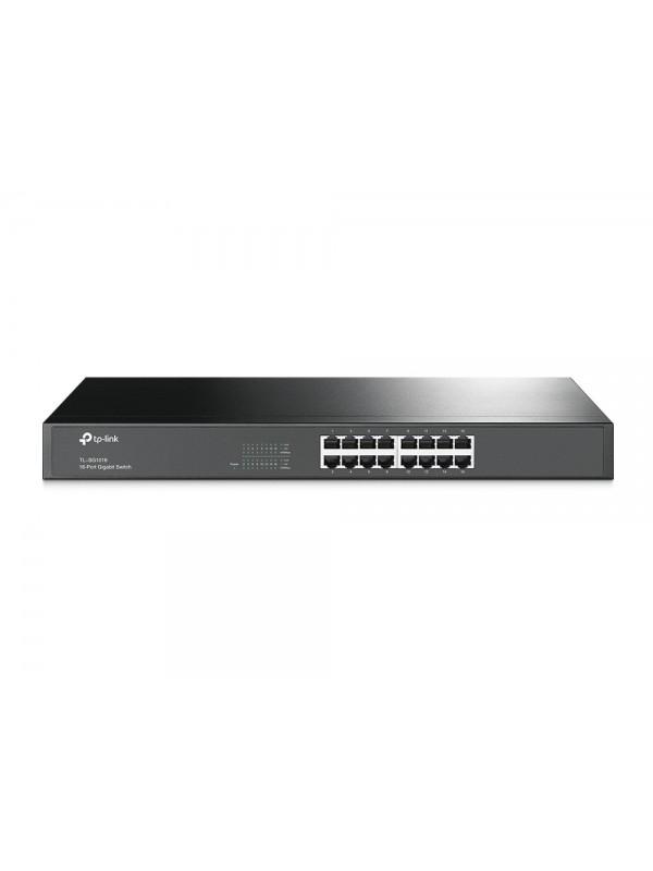 TP-LINK TL-SG1016 switch Gestionado L2 Gigabit Ethernet (10 100 1000) Negro