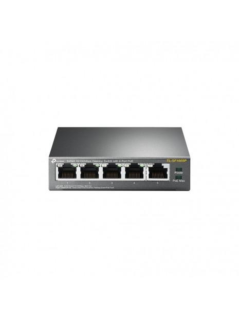 TP-LINK TL-SF1005P switch No administrado Fast Ethernet (10 100) Negro Energía sobre Ethernet (PoE)