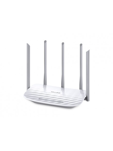TP-LINK Archer C60 router inalámbrico Doble banda (2,4 GHz   5 GHz) Ethernet rápido Blanco