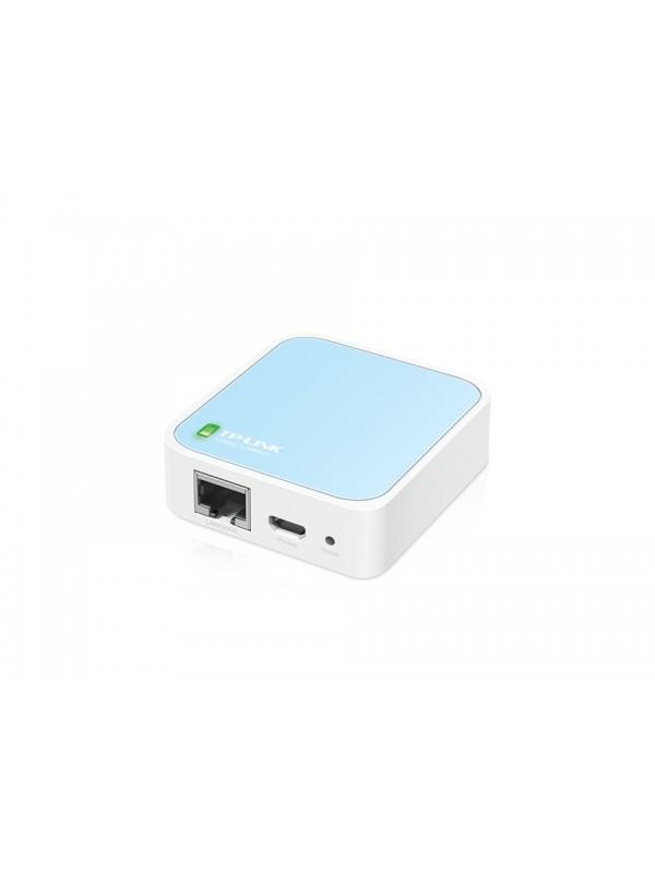 TP-LINK 300Mbps Wireless N Nano Router router inalámbrico Banda única (2,4 GHz) Ethernet rápido Azul, Blanco