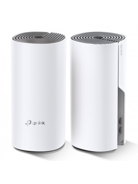 TP-LINK Deco E4 (2-pack) Blanco, Gris Interno Doble banda (2,4 GHz   5 GHz) Wi-Fi 5 (802.11ac)