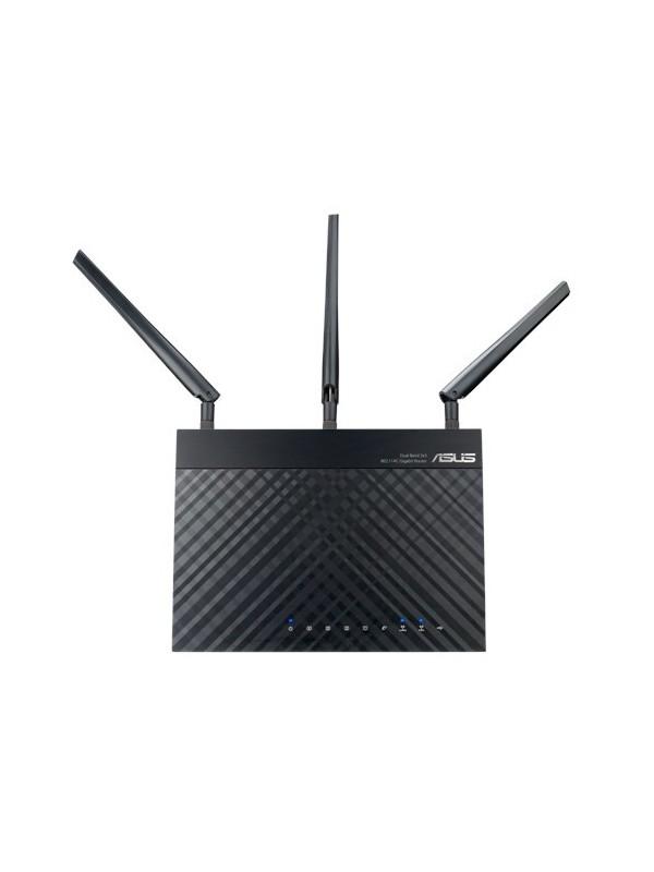 ASUS RT-AC1750 router inalámbrico Doble banda (2,4 GHz   5 GHz) Gigabit Ethernet Negro