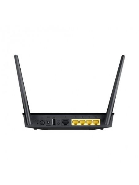 ASUS RT-AC750 router inalámbrico Doble banda (2,4 GHz   5 GHz) Ethernet rápido Negro