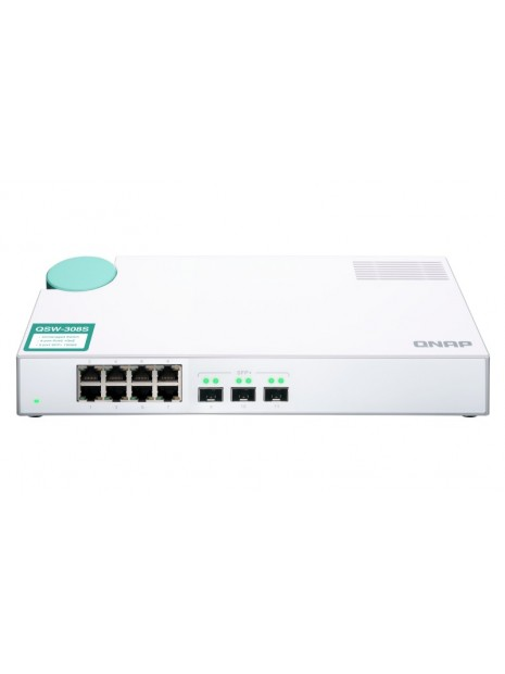 QNAP QSW-308S switch No administrado Gigabit Ethernet (10 100 1000) Blanco