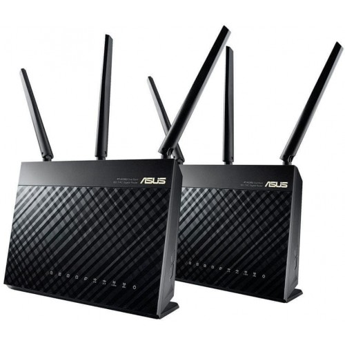 ASUS RT-AC68U router inalámbrico Doble banda (2,4 GHz   5 GHz) Gigabit Ethernet Negro