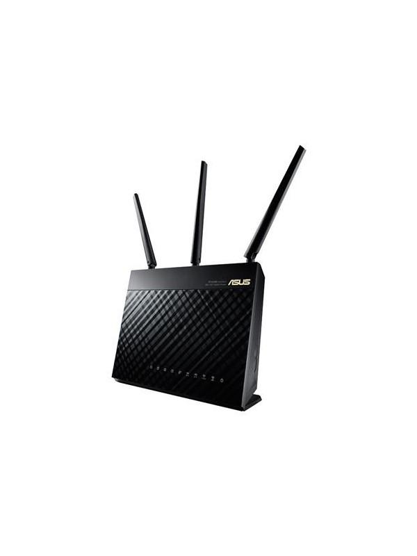 ASUS RT-AC68U router inalámbrico Doble banda (2,4 GHz   5 GHz) Gigabit Ethernet Negro