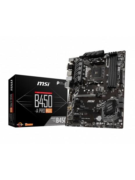 MSI Placa Base B450-A PRO MAX ATX AM4 Zócalo AM4 AMD B450
