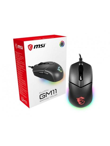 MSI Clutch GM11 ratón USB tipo A Óptico 5000 DPI Ambidextro