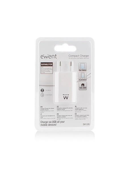 Ewent EW1209 adaptador e inversor de corriente Interior 5 W Blanco