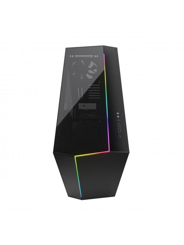 Fractal Design Vector RS Dark Tempered Glass Tower Negro, Transparente