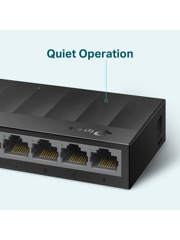 TP-LINK LS1008G switch No administrado Gigabit Ethernet (10 100 1000) Negro