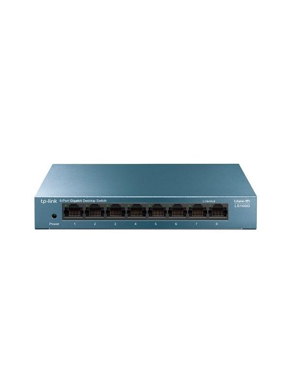 TP-LINK LS108G switch No administrado Gigabit Ethernet (10 100 1000) Azul