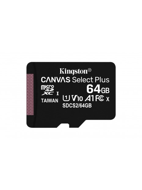 Kingston Technology Canvas Select Plus memoria flash 64 GB SDXC Clase 10 UHS-I
