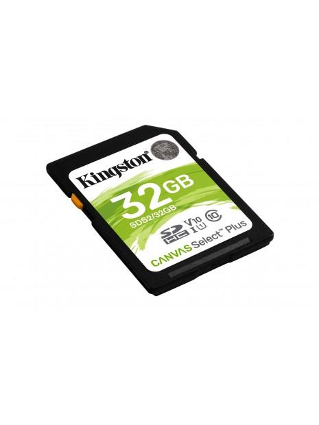 Kingston Technology Canvas Select Plus memoria flash 32 GB SDHC Clase 10 UHS-I