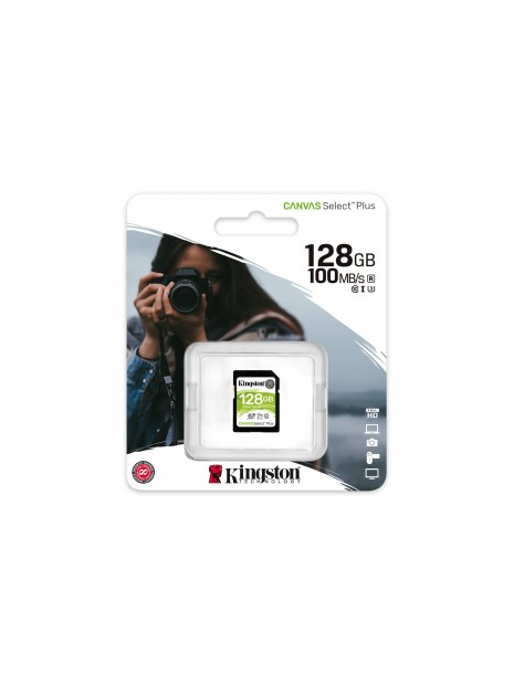 Kingston Technology Canvas Select Plus memoria flash 128 GB SDXC Clase 10 UHS-I