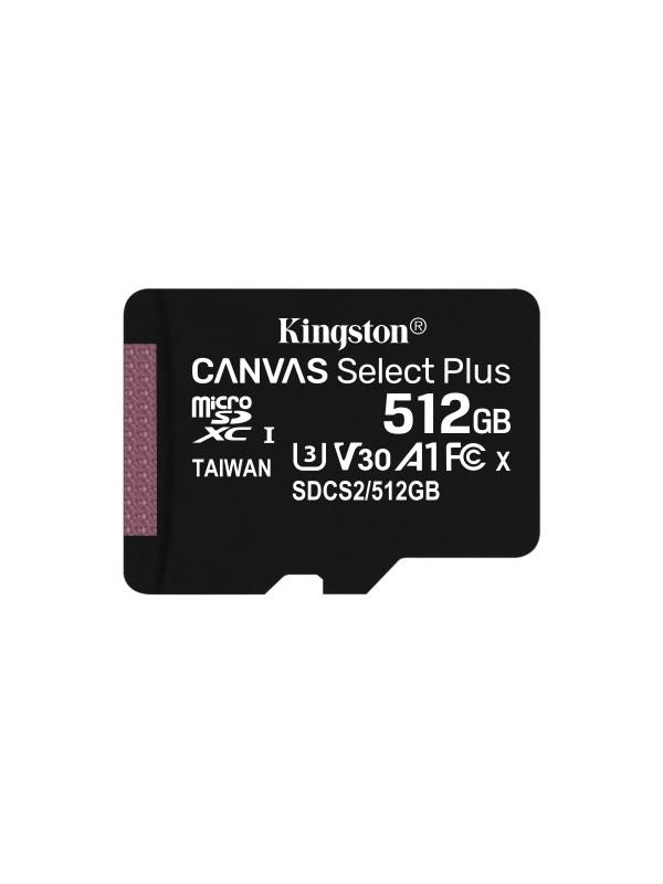 Kingston Technology Canvas Select Plus memoria flash 512 GB MicroSDXC Clase 10 UHS-I