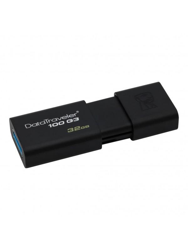 Kingston Technology DataTraveler 100 G3 unidad flash USB 32 GB USB tipo A 3.2 Gen 1 (3.1 Gen 1) Negro