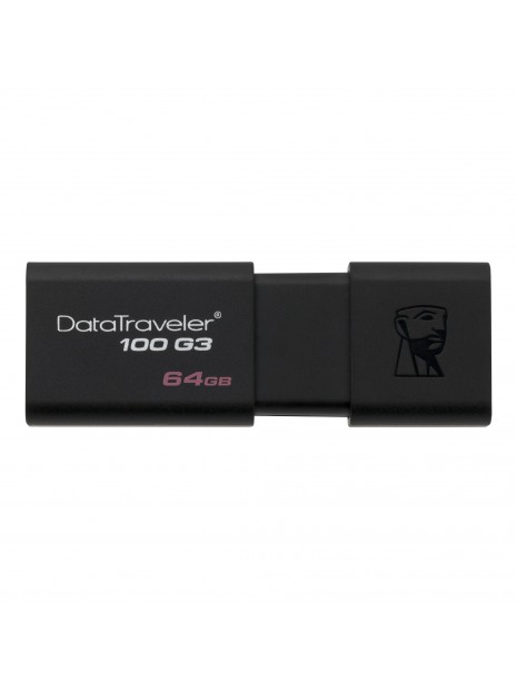 Kingston Technology DataTraveler 100 G3 unidad flash USB 64 GB USB tipo A 3.2 Gen 1 (3.1 Gen 1) Negro