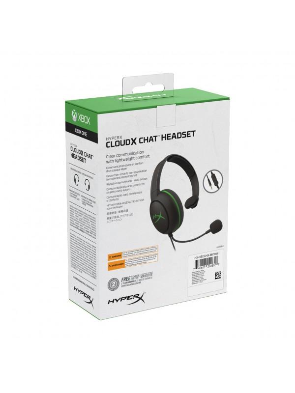 HyperX CloudX Chat Auriculares Diadema Negro, Verde