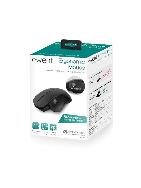 Ewent EW3151 ratón 1600 DPI mano derecha