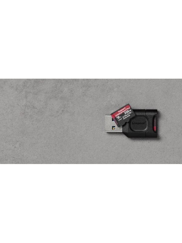Kingston Technology Canvas React Plus memoria flash 256 GB MicroSD Clase 10 UHS-II