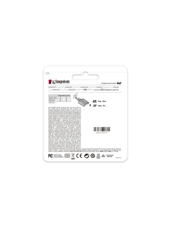 Kingston Technology Canvas React Plus memoria flash 128 GB SD Clase 10 UHS-II