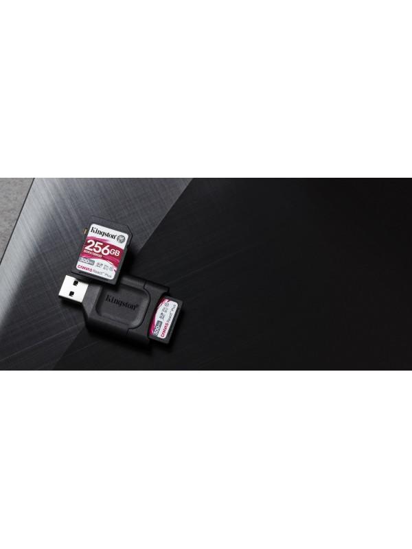 Kingston Technology Canvas React Plus memoria flash 256 GB SD Clase 10 UHS-II