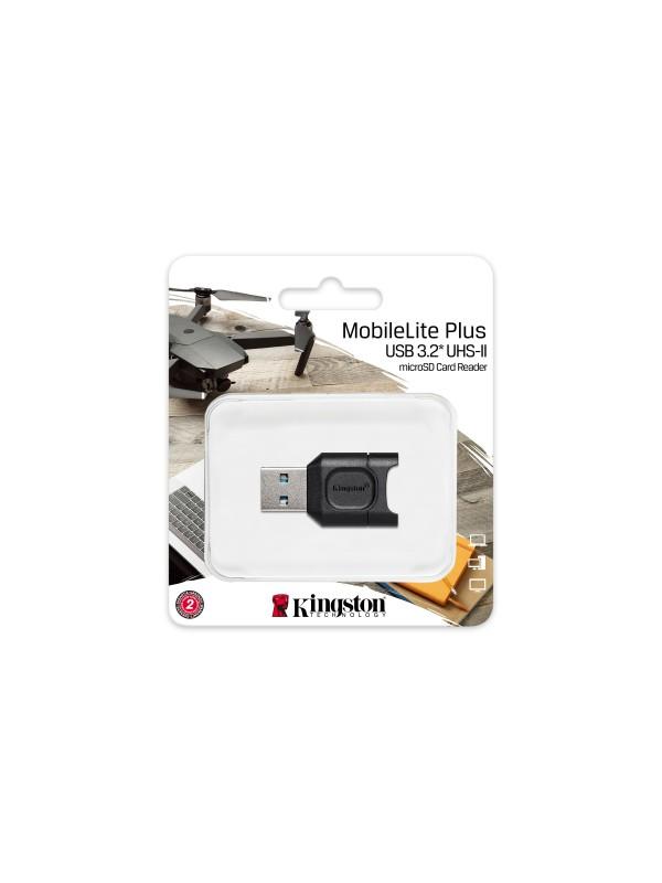 Kingston Technology MobileLite Plus lector de tarjeta Negro USB 3.2 Gen 1 (3.1 Gen 1) Type-A