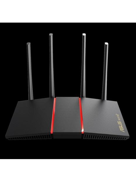 ASUS RT-AX55 router inalámbrico Doble banda (2,4 GHz   5 GHz) Gigabit Ethernet Negro