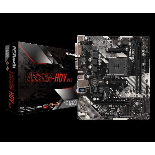 ASROCK A320M-HDV R4.0 caja y placa