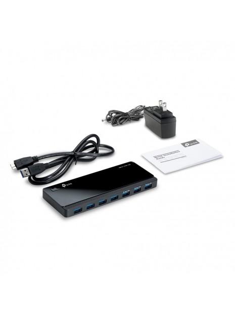 TP-LINK UH700 hub de interfaz USB 3.2 Gen 1 (3.1 Gen 1) Micro-B 5000 Mbit s Negro