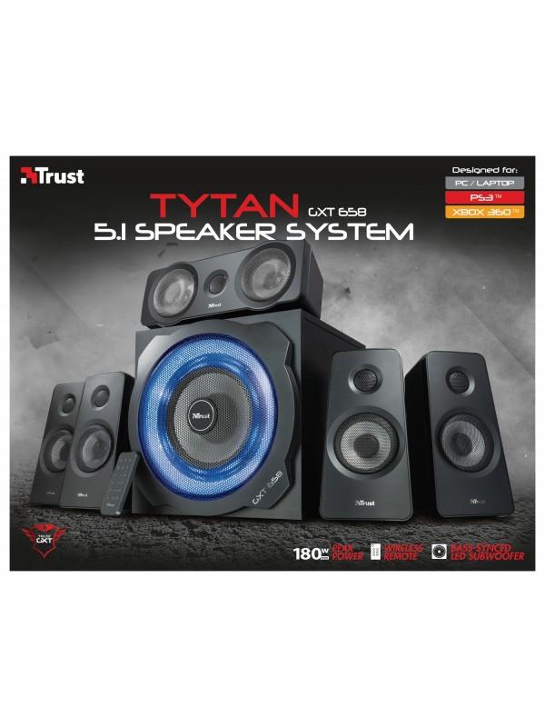 Trust GXT 658 Tytan 5.1 90 W Negro 5.1 canales