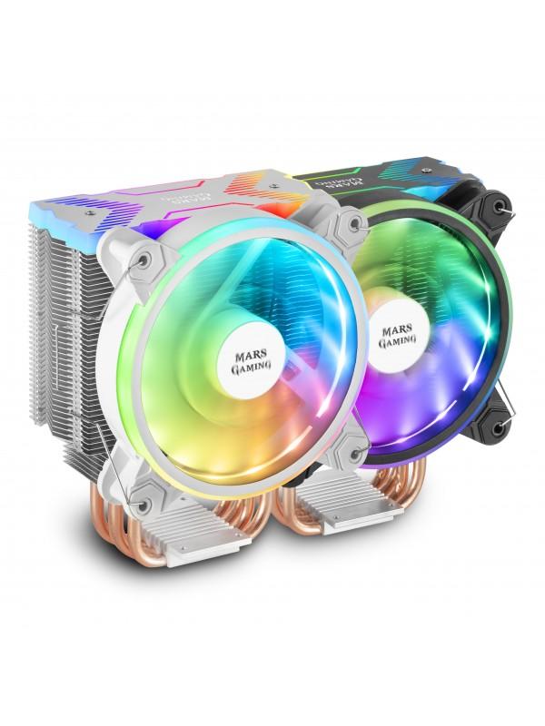 Mars Gaming MCPUX Procesador Enfriador 12 cm Blanco 1 pieza(s)